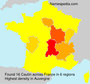 Surname Cautin in France