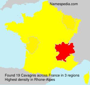 Surname Cavagnis in France