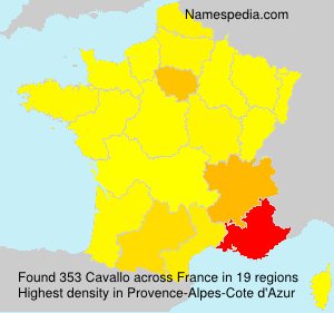 Surname Cavallo in France