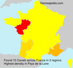 Familiennamen Cavalo - France