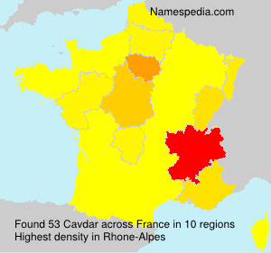 Surname Cavdar in France