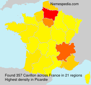 Surname Cavillon in France