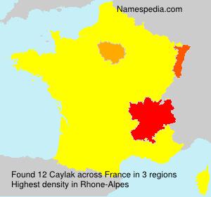 Familiennamen Caylak - France