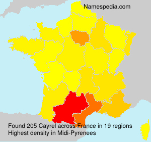 Surname Cayrel in France