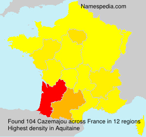 Surname Cazemajou in France
