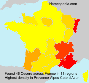 Surname Cecere in France