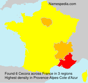 Surname Cecora in France