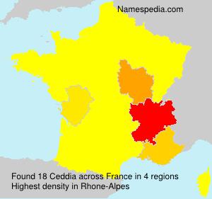 Surname Ceddia in France