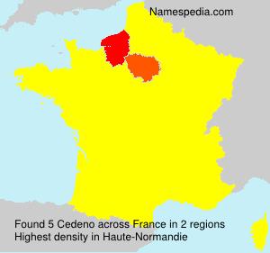 Surname Cedeno in France