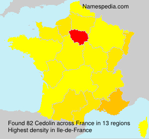 Surname Cedolin in France