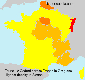Surname Cedrati in France