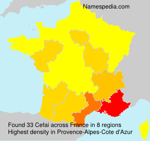 Surname Cefai in France