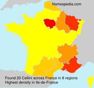 Surname Cellini in France