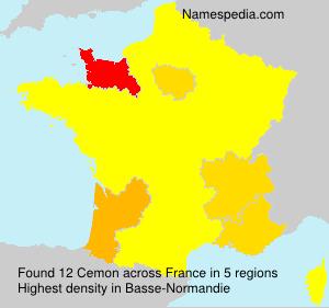 Familiennamen Cemon - France