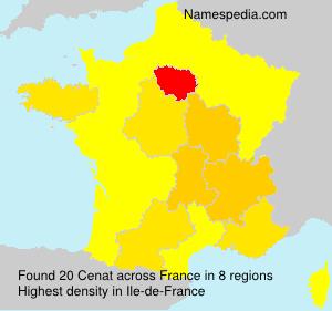 Familiennamen Cenat - France