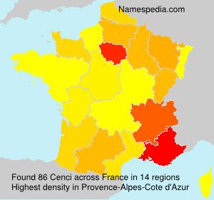 Familiennamen Cenci - France