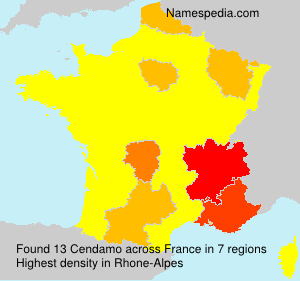 Surname Cendamo in France