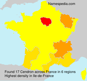Surname Cendron in France