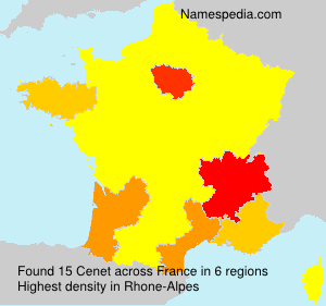 Surname Cenet in France