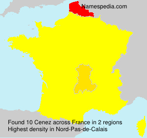 Surname Cenez in France