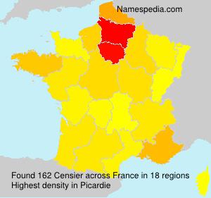 Familiennamen Censier - France