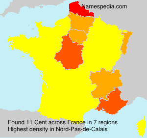 Surname Cent in France