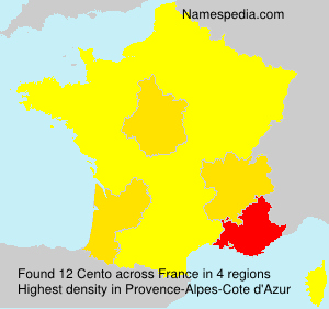 Surname Cento in France