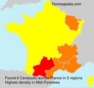 Familiennamen Cerasuolo - France