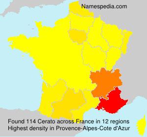 Surname Cerato in France