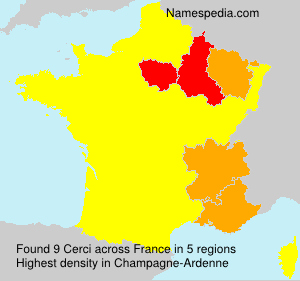 Surname Cerci in France