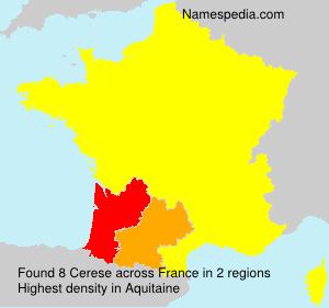 Familiennamen Cerese - France