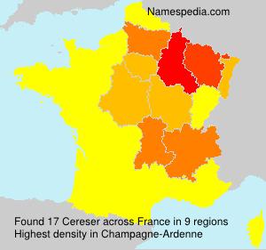 Familiennamen Cereser - France