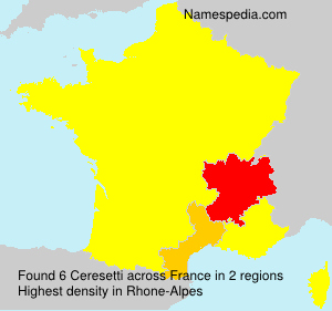 Surname Ceresetti in France