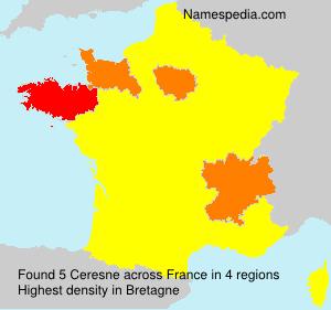 Familiennamen Ceresne - France