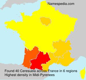 Familiennamen Ceresuela - France