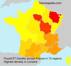 Familiennamen Ceretto - France