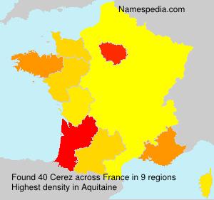 Familiennamen Cerez - France