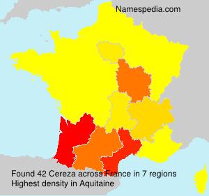 Familiennamen Cereza - France