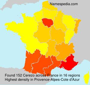 Familiennamen Cerezo - France