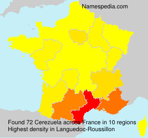 Familiennamen Cerezuela - France