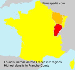 Familiennamen Cerhak - France
