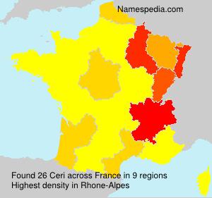 Surname Ceri in France