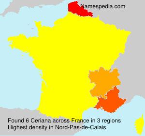 Familiennamen Ceriana - France