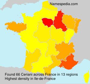 Familiennamen Ceriani - France