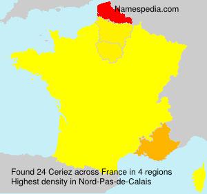 Familiennamen Ceriez - France
