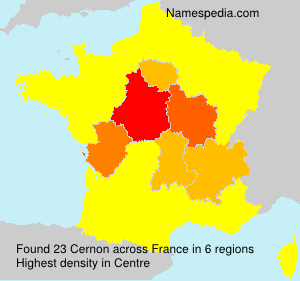 Surname Cernon in France