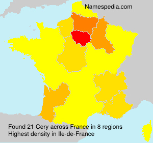 Surname Cery in France