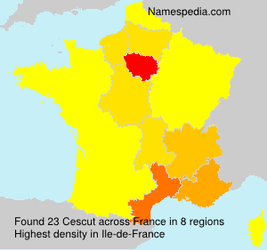 Surname Cescut in France