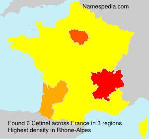 Familiennamen Cetinel - France