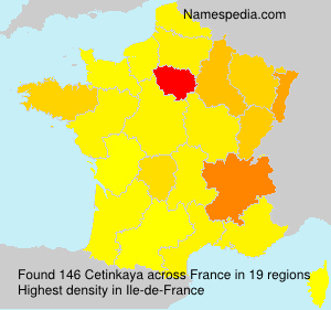 Surname Cetinkaya in France